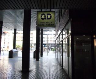 Entrada al GD. Al fons la Pl. Josep Pla